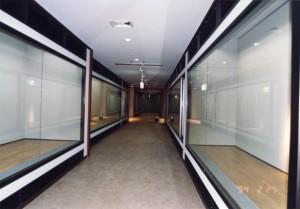 開館当時のまっさらな状態の展示室