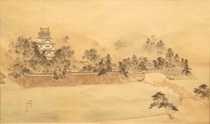 柳川旧城図(中野春翠筆)